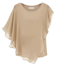 Bepei Women Ladies Elegant Irregular Bat Sleeve Flounced Ruffle Chiffon Blouse Top T-Shirt BEIGE XXS Bepei http://www.amazon.co.uk/dp/B00KG64N06/ref=cm_sw_r_pi_dp_1FCkub1ZT88RA