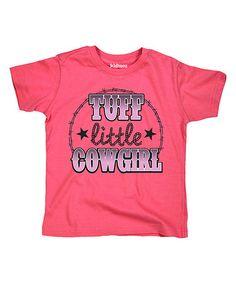 Raspberry 'Tuff Little Cowgirl' Tee