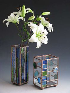 Stained Glass Vases
