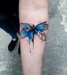Tattoo Frauen Unterarm Tiere 36 Ideas For 2019 Mini Tattoos, Circle Tattoos, Fake Tattoos, Tattoos For Guys, Tatoos, Wolf Tattoo Design, Dragonfly Tattoo Design, Butterfly Tattoo Designs, Butterfly Tattoo Meaning