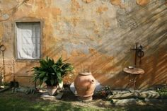 Scent of Tuscany - detail from a rural Tuscan garden. Stock Photo