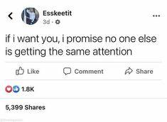 I Want You, Things I Want, I Promise, Math Equations