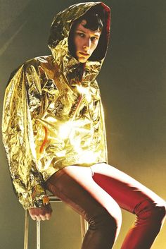 Uhmmm YES. Gold hoodies are the answer.