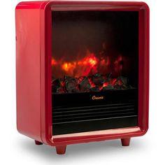 Crane Mini Fireplace Heater, Red EE-8075 R