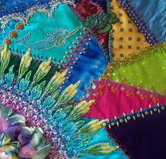 I ❤ crazy quilting, beading & embroidery . . . beautifully done ~By don'tcallmecrafty
