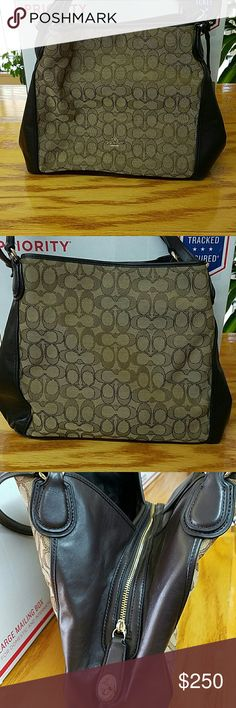 NWOT Gorgeous Coach Shoulder Bag Color: Khaki Brown Coach Bags Shoulder Bags