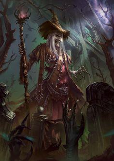 Witch Necromancy, Boris Nikolic on ArtStation at https://www.artstation.com/artwork/8k3On