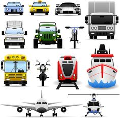 41 Transport vector design,  transportation vector icons, transport templates free download.