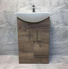 Walnut Oak Finish Vanity Basin Sink Unit 550mm Bathroom Storage Driftwood · $137.99 Oak Vanity Unit, Cloakroom Vanity Unit, Vanity Basin, Basin Sink, Sink Units, Grey Oak, Bathroom Storage, The Unit, Driftwood