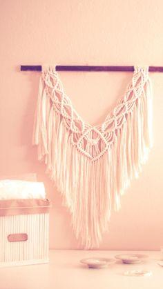Macrame Art, Boho Decor, Tassel Necklace, How To Make, Handmade, Gifts, Diy, Hand Made, Presents