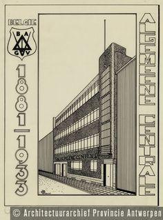 Alfons Francken, ontwerp vakbondsgebouw, Van Arteveldestraat in Antwerpen (1933). | photo credit: Architectuurarchief Provincie Antwerpen, found on the website: http://www.debalansvanbraem.be