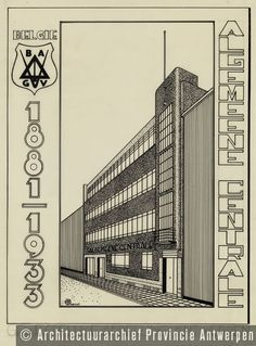 Alfons Francken, ontwerp vakbondsgebouw, Van Arteveldestraat in Antwerpen (1933). | photo credit: Architectuurarchief Provincie Antwerpen, found on the website: http://www.debalansvanbraem.be