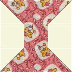 Miniature Spools Quilt Pattern - © Janet Wickell