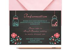 Mason Jar Bestpoke Wedding Information Card by LoveArtsStationery