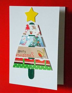Recycled Christmas Card 1