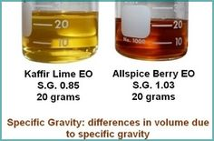 Knowing specific gravity of oils and being able to translate drops to grams is critical for a professional perfumer. http://PerfumeClasses.com