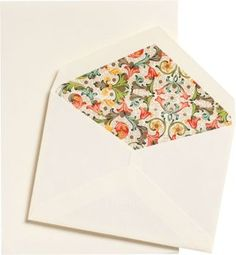 Enjoy writing beautiful letters with ecru writing papers and coordinating envelopes lined with exquisite Florentine paper. Simply elegant correspondence.<br /><br />30 -5 1/4 x 7 1/2 writing papers<