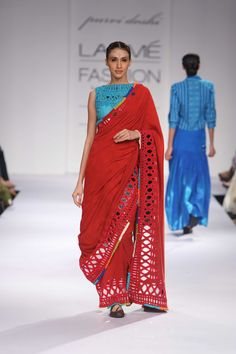 Purvi Doshi's collection at Lakme winter Festive 2014. #lakmefashionweek #JabongLFW