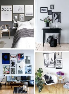 52 indretnings tips der optimerer dit hjem Small Living, Most Beautiful Pictures, Gallery Wall, Layout, Living Room, Interior, Tips, Small Bedrooms, Inspiration