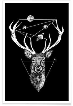 Deer als Premium Poster von Alejandra Sáenz   JUNIQE
