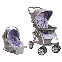 My New Carseat Stroller Combo Sooo Cute Winnie The Pooh Baby Equipment Purple