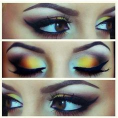 People are always asking me what the bright yellow shadow in my eyeshadow pallet. This is beautiful! #perskinality