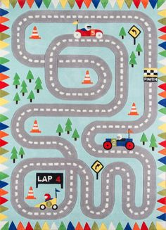 Momeni Lil Mo Whimsy Indoor Kids Area Rug - Kids Rugs at Hayneedle Kids Area Rugs, Round Area Rugs, Light Blue Area Rug, Blue Area Rugs, Hawaiian Party Decorations, Retro Robot, Hand Tufted Rugs, Whimsical Fashion, Infant Activities