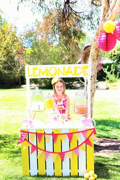 sunshine and lemonade party with lemonade stand Birthday Photos, 2nd Birthday, Birthday Parties, Pink Lemonade Party, Sunshine, Party Ideas, Wedding Ideas, Party, Anniversary Pictures