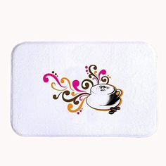 TrUiuiui Coffee Time Bath Mat Coral Fleece Area Rug Door Mat Entrance Rug Floor Mats for Front Outside Doors Entry Carpet 50 X 80 X 1.3cm - Brought to you by Avarsha.com