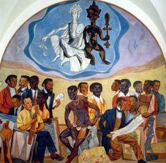 Art of the Negro: Muses by Hale Woodruff, 1952, 12 X 12', Clark Atlanta University, Trevor Arnett Library.