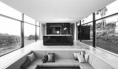 i've always loved a 'sunken' living room... Room 11's mountain house