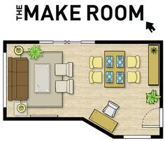 Use the Make Room to plan any space in your home with virtually every piece of furniture available at Urban Barn.  When your masterpiece is complete you can save your space, email it, or print it out and use it as your shopping list.