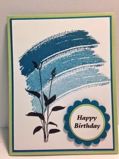 Work of Art, World of Dreams, Birthday Card, Stampin' Up!, Rubber Stamping,  Handmade Cards,