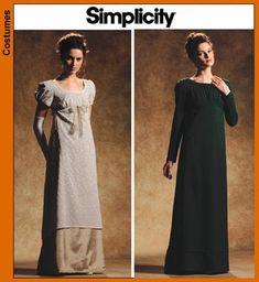 Diy Sewing Pattern Simplicity 1517-Regency Gown/Dress-Pride n Prejudice Gown