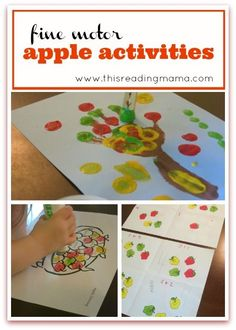 Fine Motor Apple Activities {FREE Printable Included!}