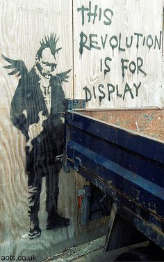 Banksy This revoultion is for display purposes only graffiti