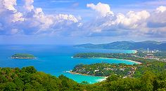 The amazing view from Kata Hill over looking Kata & Karon Beach in #Phuket, #Thailand