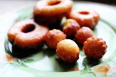 Doughnut Friday!  Homemade glazed doughnuts.  Delicious!  I especially love the little fluted doughnut holes.