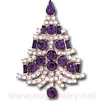 eisenberg ice christmas pins | 541 - Eisenberg Ice Christmas Tree Rhinestone Brooch Pin - Brooch Pins ...
