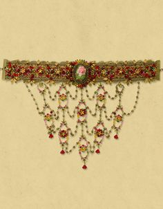 Michal Negrin ~ Lace Choker Necklace 10080