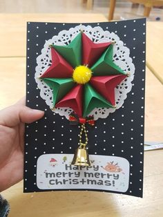 Christmas Origami, Christmas Crafts, Merry Christmas, Christmas Decorations, Christmas Ornaments, Cd Crafts, Diy And Crafts, Crafts For Kids To Make, Art For Kids