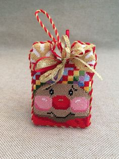 Rudolf the red nose reindeer ornament ~ Canvas by ACOD