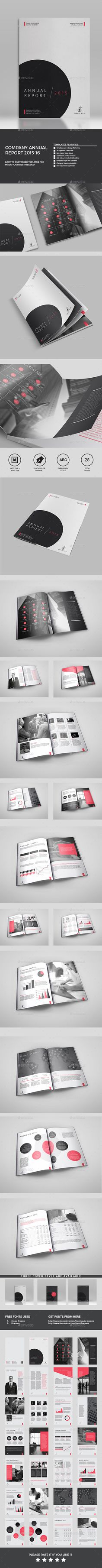 It's a 28 page Clean Company Annual template is for company or office and agency based projects.