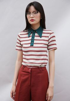 (99+) Vintage 70's Stripe Knit Shirt | Mint Vintage | ASOS Marketplace