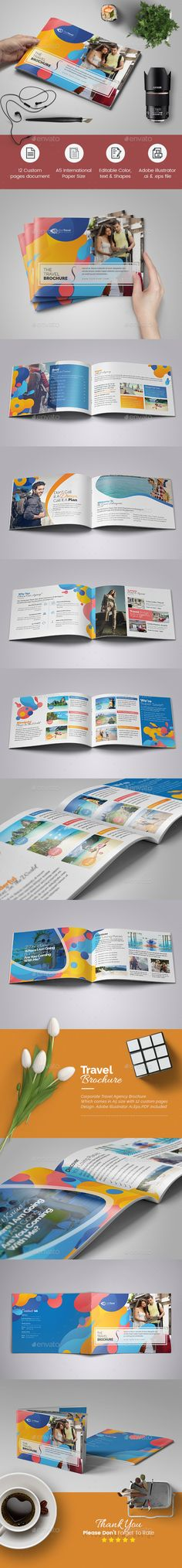 Corporate Travel Agency Brochure Template Vector EPS, AI Illustrator is very easy to use and change text,color,size,look and everything so please don't worry about changing.