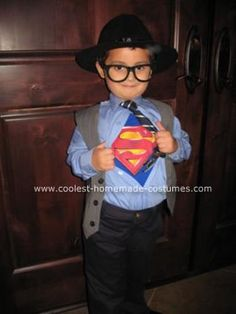 This looks like a job for... This year, our 4-year-old wanted to be Clark Kent and so the quest began.  However, after analyzing what we needed, it ended up being rather easy and the