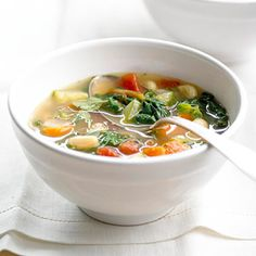Healthy Minestrone ~ a great lunch to make ahead for the week.