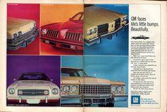1974 General Motors Chevelle Laguna S-3 Cadillac Coupe deVille Pontiac Grand Am Advertisement Hot Rod February 1974 | by SenseiAlan