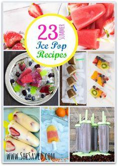Summer Ice Pop Recipes - SheSaved®