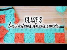 LAS CORTINAS DE MIS SUEÑOS : CLASE 3 | Punto Calado + Cómo bloquear el tejido - YouTube